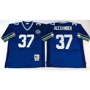 Seattle Seahawks Shaun Alexander Blue Jersey
